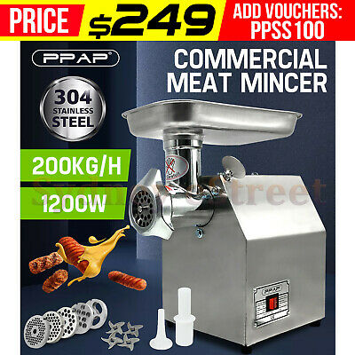 1.63HP Commercial Meat Mincer- Electric Grinder & Sausage Maker Filler 1200W OZ