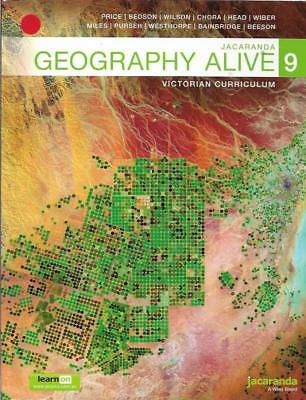 Jacaranda Geography Alive 9 Victorian Curriculum by Jill Price and others VGC