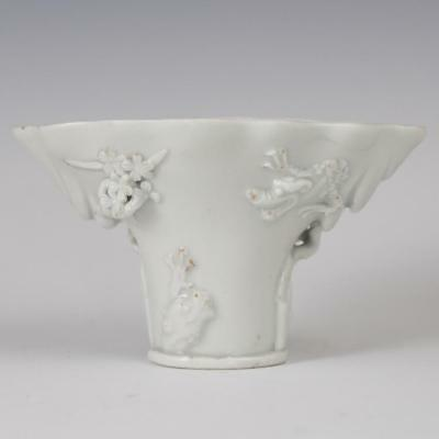 Late Ming Chinese Blanc De Chine Libation Cup Lot 532