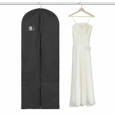 Suit Long Dress Garment Bag Black Robe Garment Gown Bags Clothing Storage New