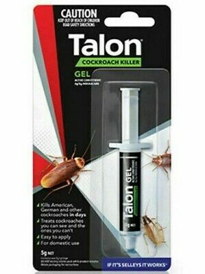 Talon Cockroach Killer Gel Selleys Syringe Effective Roach Bait FRESH NEW STOCK