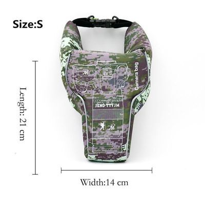 S Camouflage Waterproof Case Bag FOR  Canon Nikon Sony DSLR Digital SLR Camera