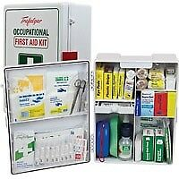 First Aid Kit -   Wallmount ABS Plastic National Workplace First Aid Kit