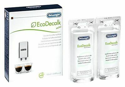Delonghi EcoDecalk Coffee Bean Maker Machine Descaler Pack Of 2 100ML 5513292821