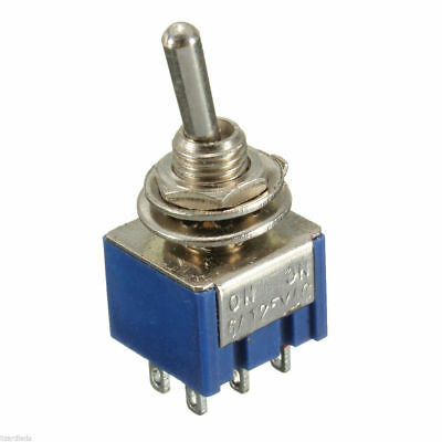 6 Pin 2 Position ON-ON DPDT Mini Latching Toggle Switch AC 125V/6A , 250V/3A