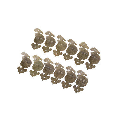 12X Metal Decorative Furniture Corner Bracket for Jewelry Box Fad