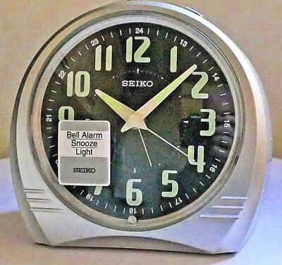 SEIKO SILENT SWEEP ALARM CLOCK ~ QXK008S ~ Boxed ~ Unused ~ Immaculate.
