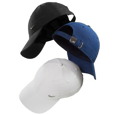 2098f939966 Nike Metal Swoosh Mens Sports Peak Cap Baseball Women s Hat Adjustable Golf