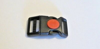 25mm Curved Side Release Buckle with Red Centre Lock Button, 1, 2, or 10