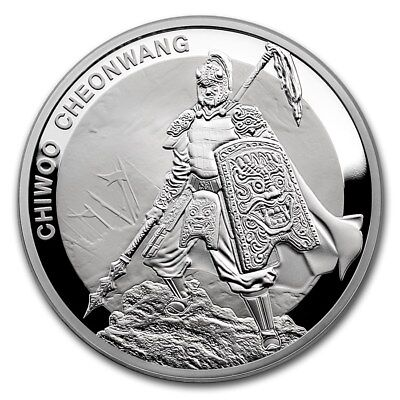 2016 South Korea Chiwoo Cheonwang Series 1 oz Silver Proof Coin With Assay Card