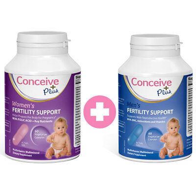 Conceive Plus Women's + Men's Fertility Vitamins 60 Capsx2 *Manufacturer Direct*