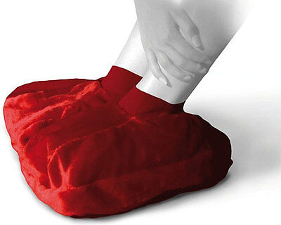 SANGER Foot Warmer Hot Water Bottle in Red - Made in Germany