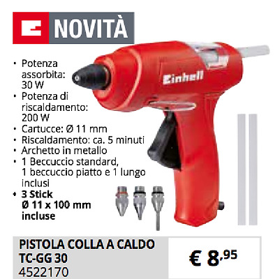 Pistola Colla A Caldo Tc-Gg 30 Termocollante N. 3 Uggelli Metallo 11Mm