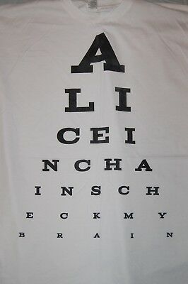Alice in Chains 2XL Eye Chart white shirt