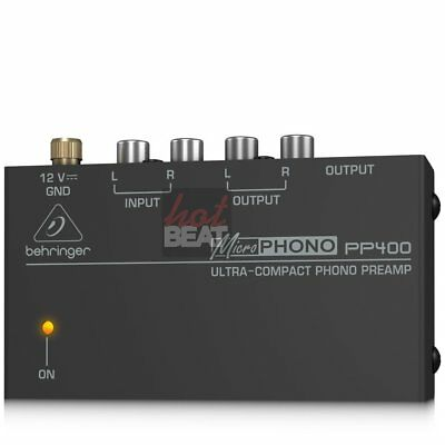 Behringer MicroPhono PP400 Phono PreAmp 689076811781 Preamplificador 110-240V