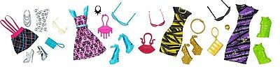 ** Clothes ** Monster High Fashion Packs: Frankie Draculaura Cleo & Clawdeen **