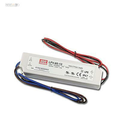 IP67 LED Transformer Driver 12V DC 60W 5A Trafo Driver EVG Throttle 12 Volt