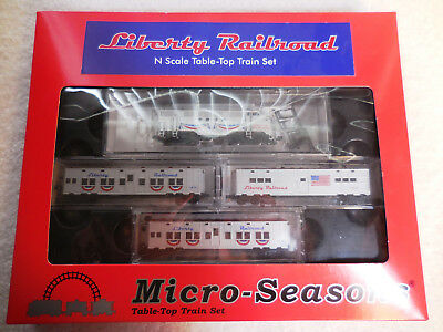 N Scale Micro Trains Liberty Railroad Table-Top Train Set Item # 993 21 030