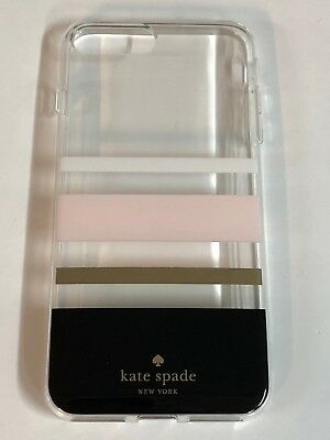 Kate Spade NY Flexible Hardshell Case for iPhone 8 plus 7 Plus Charlotte Stripe