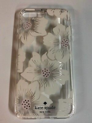 Kate Spade NY Flexible Hardshell Case for iPhone 8 plus 7 Plus Hollyhock Floral
