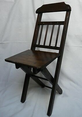 Antique Small Doll Teddy Display Folding Chair
