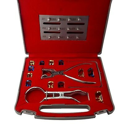 Dental Rubber Dam Kit Ainsworth Punch + Palmer Forceps + 12 Clamps - CE