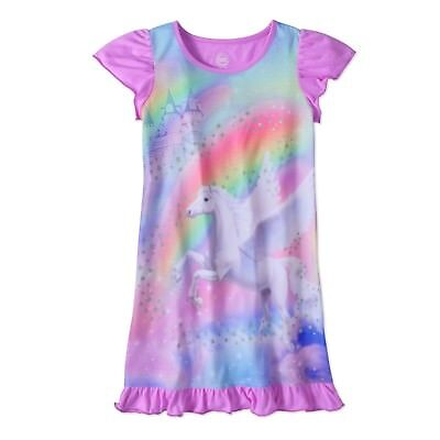 Girls Unicorn/Horse Nightgown Pajama Dress New with Tags Sz 10/12 Spring/Summer