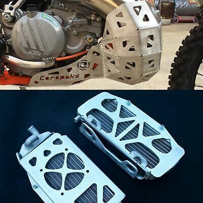 Ktm 250Exc 300Exc 2017 2018 Alloy Bashplate/ Radiator Guards Smart Combo Deal