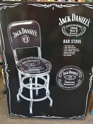 Jack Daniels Tennesse Whisky Old No 7 Swivel Base Bar Stool Bar Room Mancave