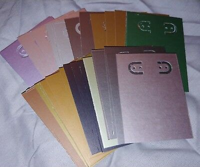 NEW Handmade Earring jewelry display card, 2x3 inch, 42pcs, asst metallic colors