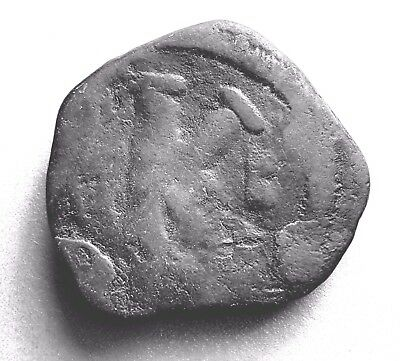 BYZANTINE COIN of JUSTINIAN I. 527AD-565AD CROSS K FOLLIS ANNO  #423