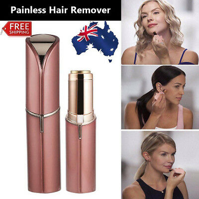 Women Flawless Finishing Touch Painless Hair Remover Face Facial Hair Removal 2Y