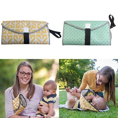 3-in-1 Clean Hands Changing Pad Portable Baby  Cover Mat Folding Diaper Bag S4