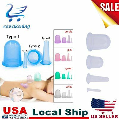 Silicone Body Vacuum Massage Helper Anti Cellulite Cupping Cups Health Care 2Y