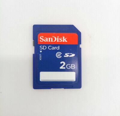 SanDisk SD 2GB Secure Digital Memory Card SDSDB-2048 Standard And Genuine Blue