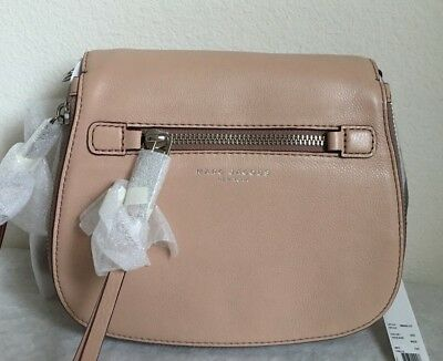 4d31c67e1 Marc Jacobs Small Recruit Nomad Pebbled Leather Crossbody Bag in Nude $375
