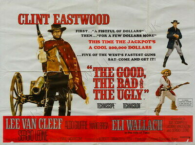 """001 Clint Eastwood  - He Good the Bad And The Ugly Vintage Movie 18""""x14"""" Poster"""