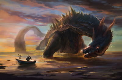 """005 Monster Hunter - Moster Fight Game 21""""x14"""" Poster"""