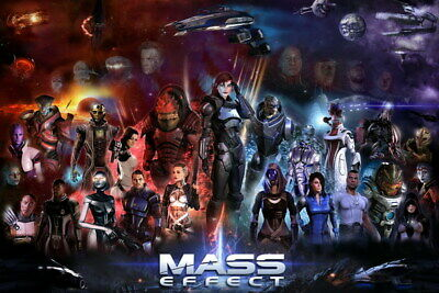 """029 Mass Effect 3 - ME Killer Fighting Shooting Hot TV Game 21""""x14"""" Poster"""