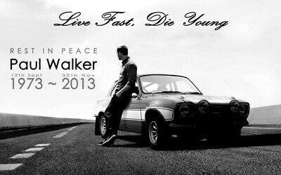 """040 Paul Walker - RIP Fast and Furious Super Movie Star 22""""x14"""" Poster"""