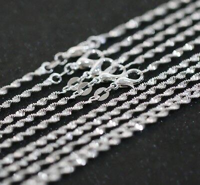 5PCS 16-30inch Wholesale jewelry Lot 925 Silver Rolo Chain Necklace For Pendant@