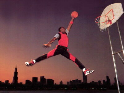"051 Michael Jordan - MJ 23 Chicago Bulls NBA MVP Basketball 32""x24"" Poster"