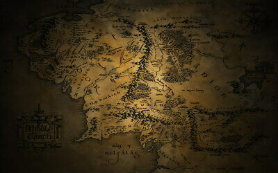 "005 Map of Middle Earth Lord Of The Rings - Hobbit Movie 38""x24"" Poster"
