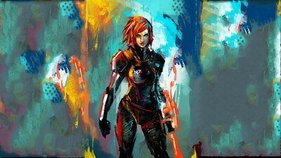 """058 Mass Effect 3 - ME Killer Fighting Shooting Hot TV Game 42""""x24"""" Poster"""