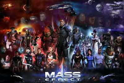 """034 Mass Effect 3 - ME Killer Fighting Shooting Hot TV Game 36""""x24"""" Poster"""