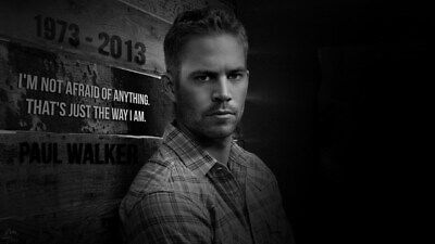 """029 Paul Walker - RIP Fast and Furious Super Movie Star 24""""x14"""" Poster"""