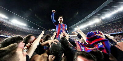 """238 Lionel Messi - Barcelona Football Soccer Top Player 28""""x14"""" Poster"""