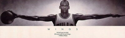 "146 Wing Michael Jordan - MJ 23 Chicago Bulls NBA MVP Basketball 45""x14"" Poster"