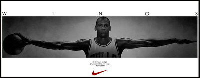 "079 Wing Michael Jordan - MJ 23 Chicago Bulls NBA MVP Basketball 61""x24"" Poster"