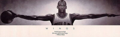 "146 Wing Michael Jordan - MJ 23 Chicago Bulls NBA MVP Basketball 77""x24"" Poster"